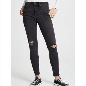 Black High Riser Skinny Jean